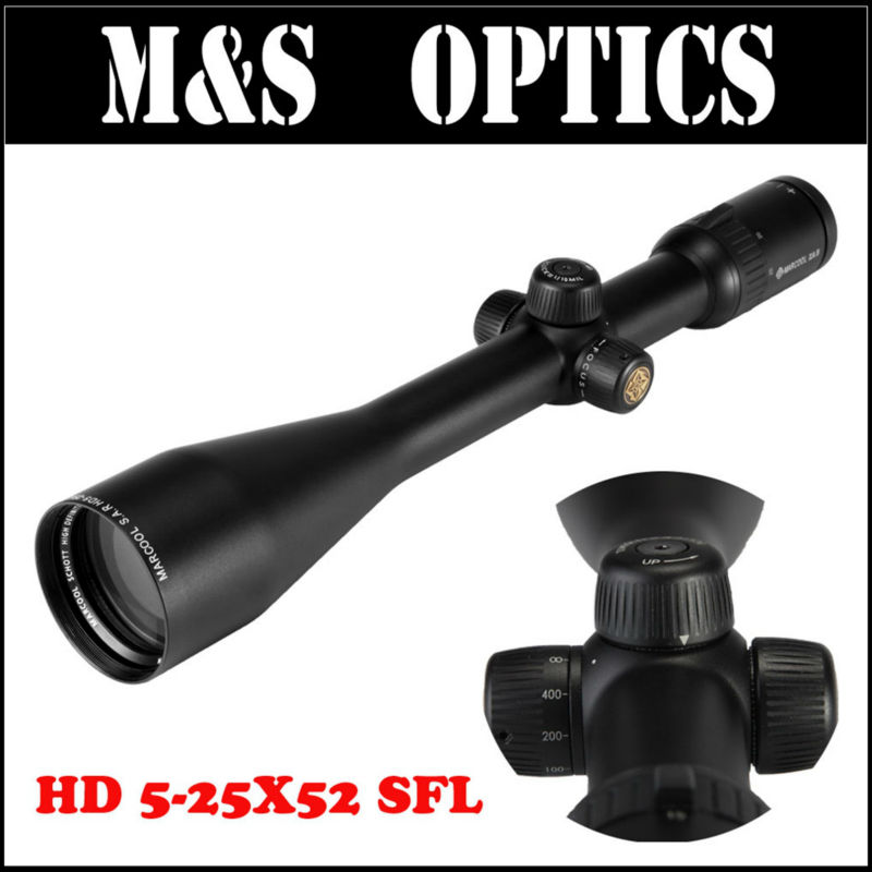 MARCOOL 5-25X52 S.A.R. ZA5 HD SFL Tactical Rifle Scopes Hunting Optics Sights Riflescopes For Big Guns coldplay a head full of dreams 2 lp