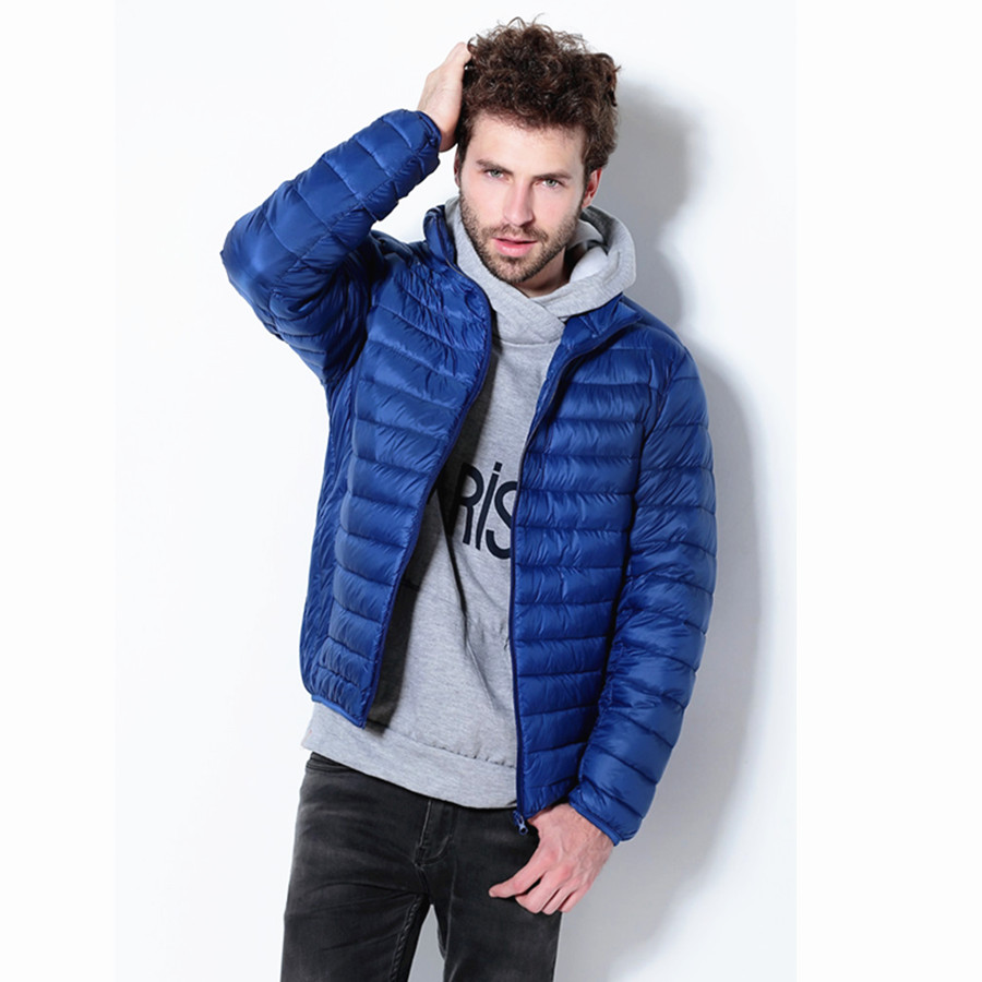New Winter Down Jacket Men Thin Section 2016 Helly Collar Chaquetas Plumas Hombre Youth Duck Down