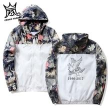 Frdun Tommy Lil Peep Üzgün Kapşonlu Ceket Rüzgarlık Erkekler Ceketler Kazak Erkekler Hip Hop Fermuar Hafif Ceketler Bombacı