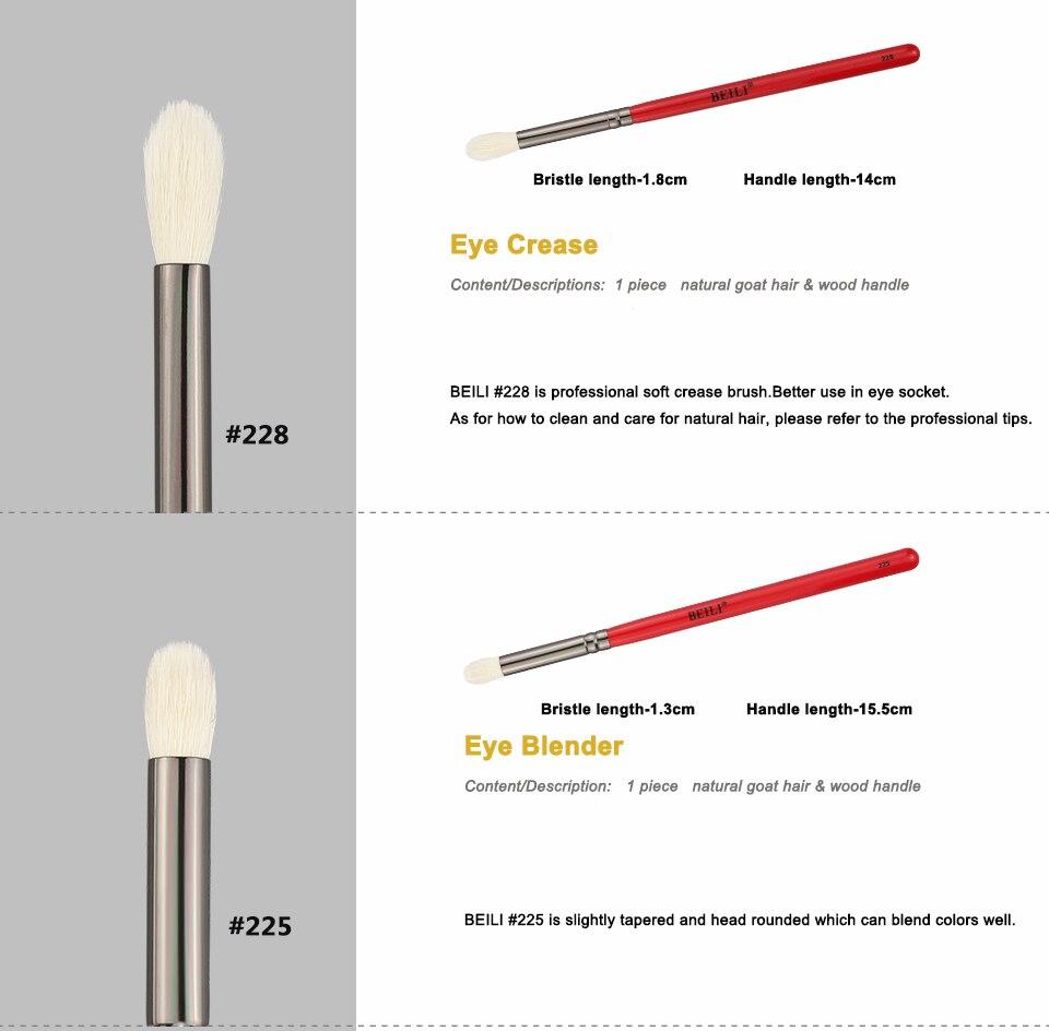 Beili Makeup Brush 1pcs Professional Natural Hair Eye Shadow Brush