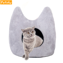 Petshy Pet Cat Cave Beds Cut Stylish Ear Dog House Removable Cushion Waterproof Bottom Puppy Small Pets Sleeping Bag Nest