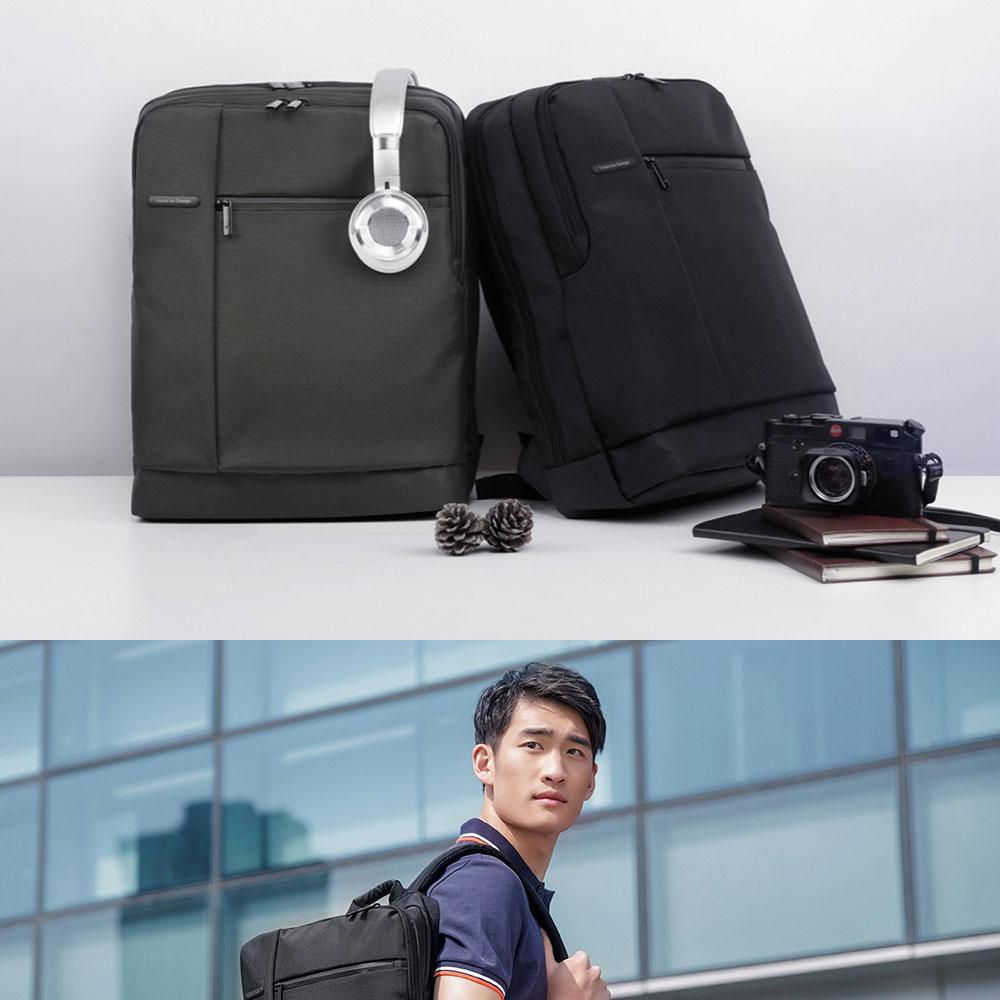 Original Xiaomi Backpack Classic Business Backpacks 17L Capacity Students  Laptop  Men Women Bag  For 15-inch Laptop OK (1)