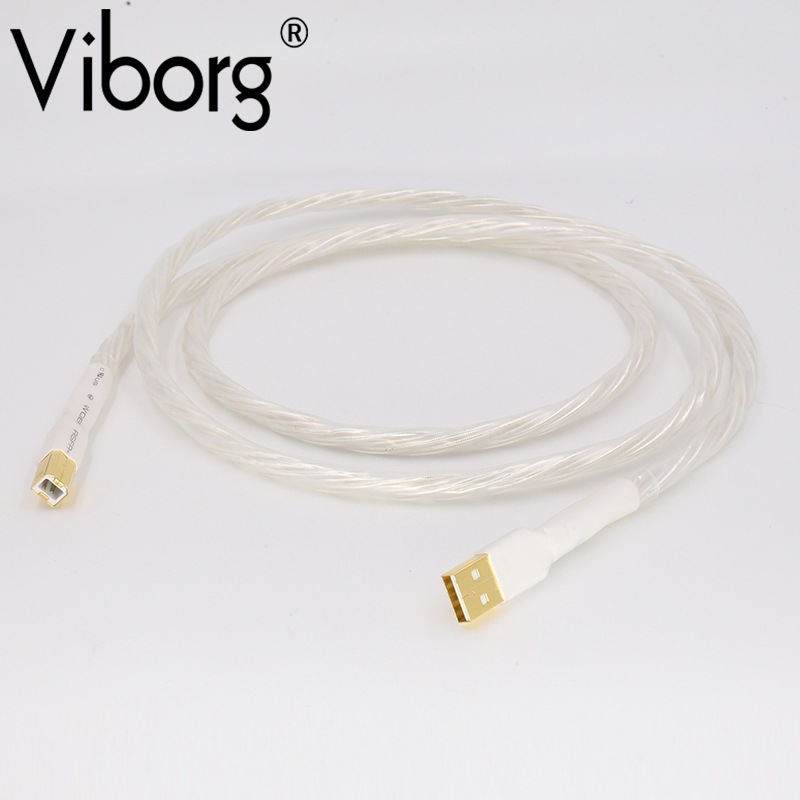 Free shipping USB001 Odin interconnect USB cable with A to B plated gold connection USB audio