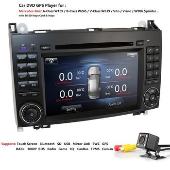 Car DVD for Mercedes Benz Sprinter Vito W169 W245 W469 W639 B200 GPS Radio DTV Stereo CANBUS AM/FM SWC BT USB Amplifier DAB+ CAM image