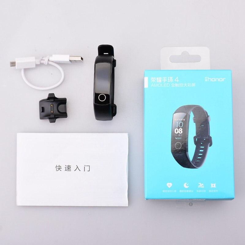 Date bracelet de fitness D'origine Huawei Honor Bande 4 bracelet connecté Amoled Couleur 0.95