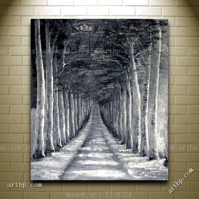 Canvas Wall Art Landscape Oil Painting Modern Decor Hand Painted ...