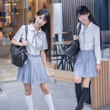 College Wind female sailor suit Japanese school uniforms JK class service long-sleeved pleated skirt student