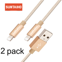 2 Pack Suntaiho USB Cable For iPhone Fast Data Charging Charger Cable For iPhone XS Max XR X 8 7 6 6S 5 5S iPad Cord phone cable