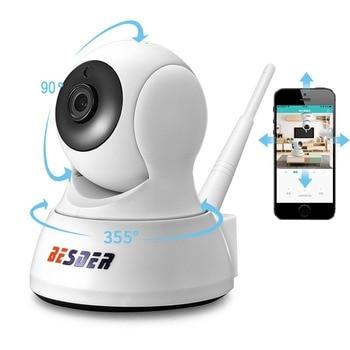 BESDER HD 720P Home Security IP Camera Two Way Audio Wireless Mini Camera 1MP Night Vision CCTV WiFi Camera Baby Monitor iCsee