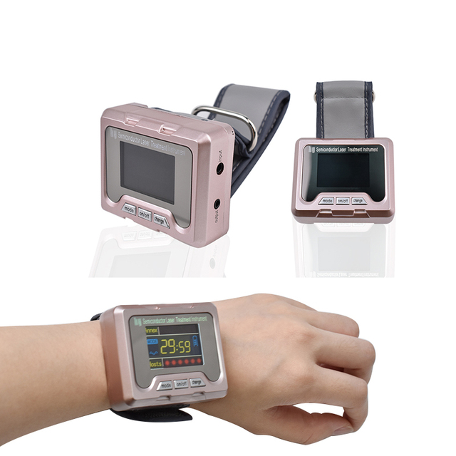 Household Healthy Diode 650nm Watch Laser LLLT for Diabetes Rhinitis Cholesterol Hypertension Physiotherapy Therapy Instrument