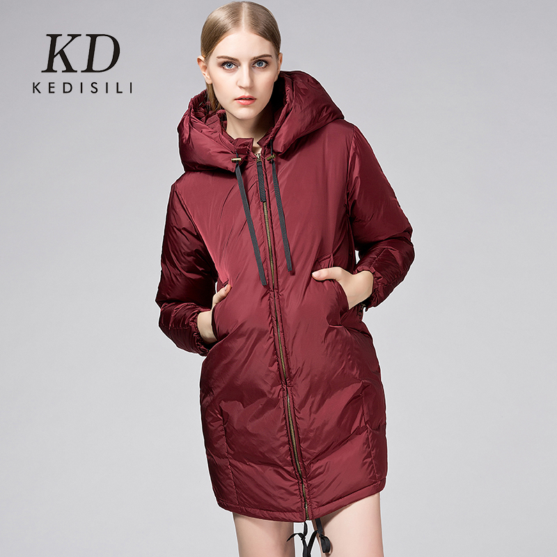 2015 new Hot winter Thicken Warm Woman Down jacket Coat Parkas Outerwear Hooded Luxury Brand Straight Cold Mid long plus size XL 2015 new hot thicken warm woman down jacket coat parkas outerwear mid long plus size 2xxl luxury brand slim hooded red wine