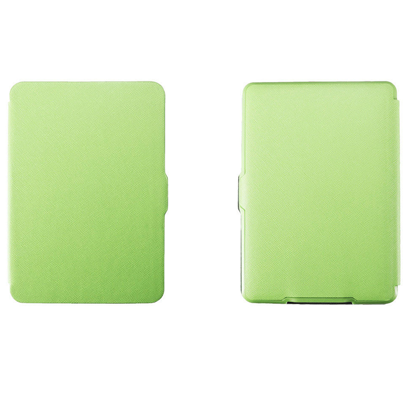 2 Packs Magnetic PU Leather Cover Case slim for Amazon Kindle Paperwhite (Cross pattern, Green) premiu ultra slim pu leather smart case cover for new amazon kindle paperwhite 5 4 8