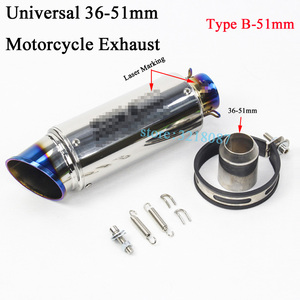 Image 5 - Universal 51mm 61MM Motorcycle Exhaust Pipe Escape Modified Dirt Bike Laser Marking Muffler For CBR1000RR S1000RR Ninja300 R6