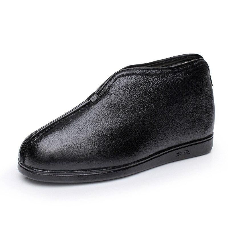2019 겨울 정품 가죽 신발 양모 노인 면화 부츠 여성 모피 한 겨울 신발 따뜻한 면화 짧은 부츠-에서앵클 부츠부터 신발 의  그룹 3