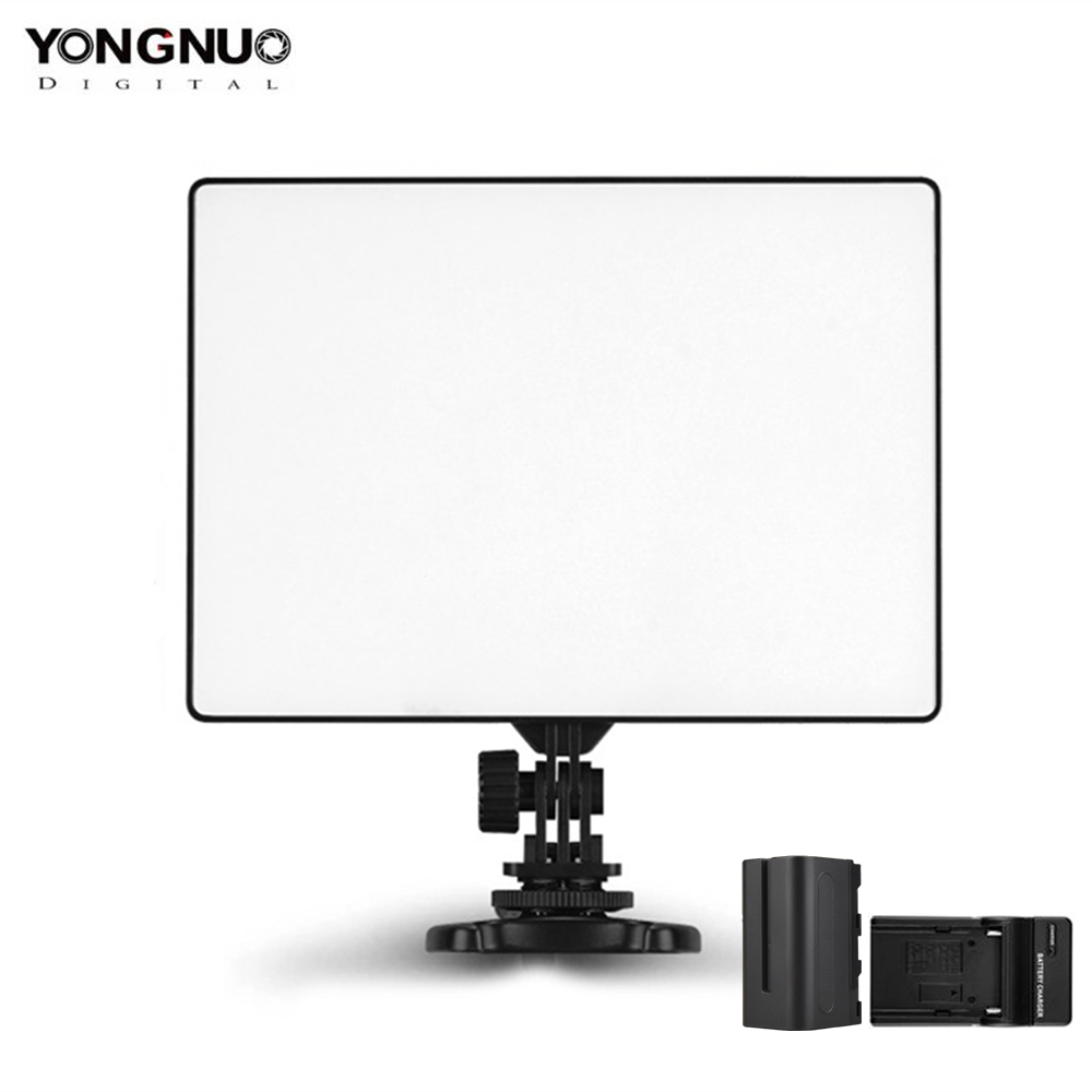 YONGNUO YN300 Air 3200k 5500k YN300Air Pro LED Camera Video Light with NP F750 Battery and