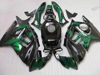 Kit de Carenado plástico ABS para Honda CBR600 F3 97 98 verde negro set de carenados CBR600 F3 1997 1998 FV14