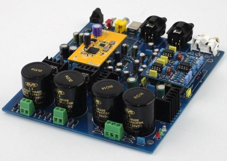 DSD1796 NE5532 Double carte de décodeur DAC Coaxial Fiber optique entrée USB pour Audio bricolage