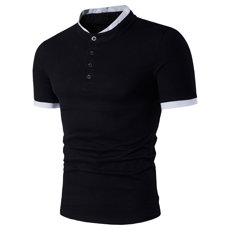 FDWERYNH Business & Casual Cotton   Polo   Shirt Men Stand Collar Short Sleeve Men Shirts Slim Fit   Polo   Shirts