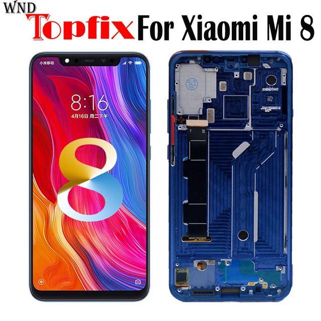 """Amoled ekran Xiaomi Mi8 LCD ekran dokunmatik ekran Digitizer Mi 8 lcd çerçeve ile 6.21 """"xiaomi mi 8 ekran yerine"""