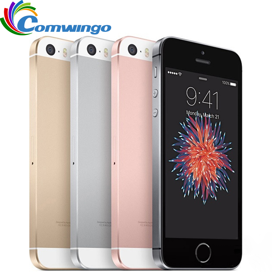 """Original Unlocked Apple IPhone SE Cell Phone RAM 2GB ROM 16/64GB Dual-core A9 4.0"""" Touch ID 4G LTE Mobile Phone Iphonese Ios"""