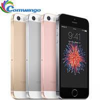 "Original desbloqueado apple iphone se telefone celular ram 2 gb rom 16/64 gb duplo-núcleo a9 4.0 ""toque id 4g lte telefone móvel iphone se ios"