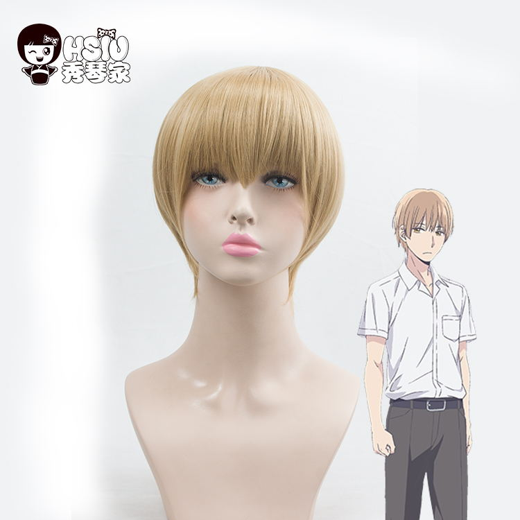 HSIU A+ kuzu no honkai Cosplay Wig Mugi Awaya Costume Play Woman Adult Wigs Halloween An ...