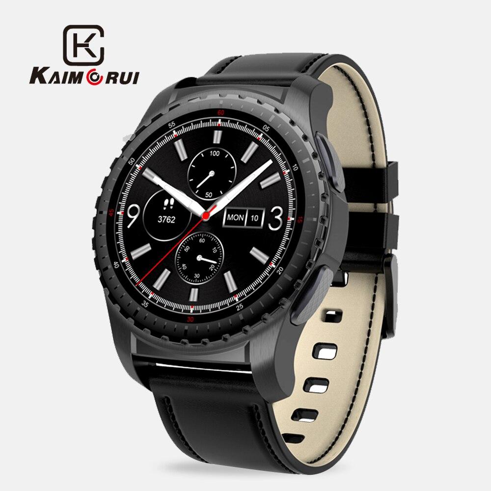 Kaimorui KW28 Bluetooth Montre Smart Watch Soutien SIM/TF Carte Hommes Montre-Bracelet Fitness Tracker Fréquence Cardiaque Horloge Pour Android IOS téléphone