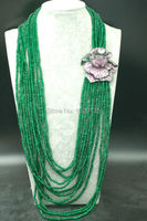 12rows green jades stone beads roundel faceted 4*2mm necklace 28 38inch wholesale beads nature gift discount FPPJ