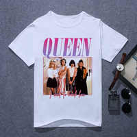 Queen Band T Shirt Men Printing FREDDIE MERCURY T-shirt Summer Casual O-Neck Short Sleeve The Queen Band Tshirt