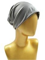 B17826 Newest Set Good Stretch Soft Pu Leather Spring Beanies Fashion Solid Silver Headwear Girls Hats