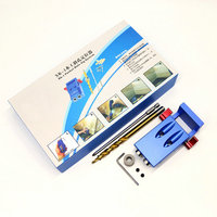 Mini Kreg Style Pocket Hole Jig Kit System For Wood Working Joinery Step Drill Bit Accessories