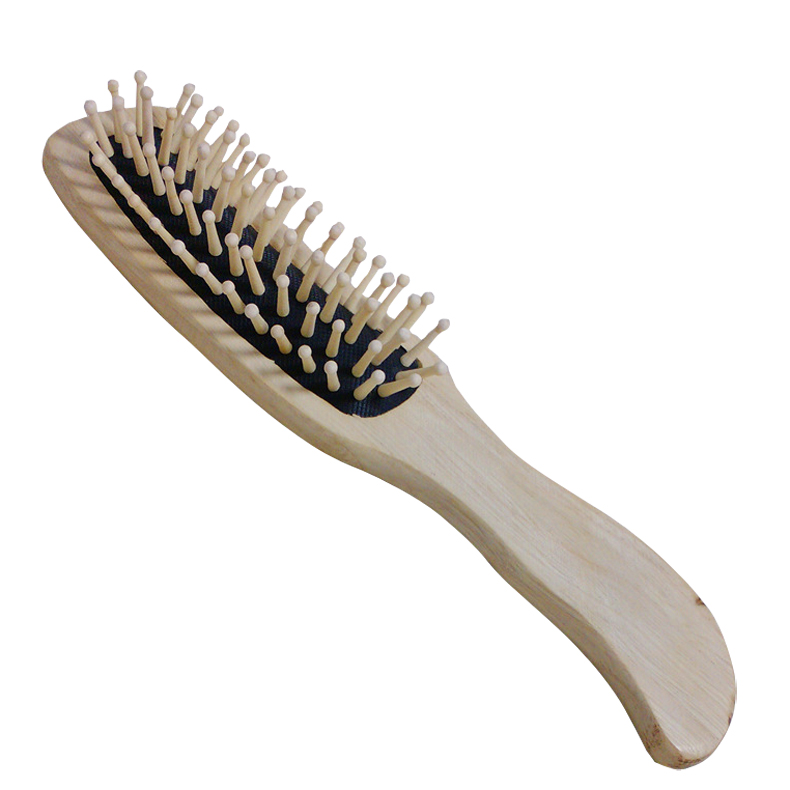 US $6 38 21% OFF|Hot Sale Natural Bamboo 1Pc Wooden Hair Vent Paddle Brush  Hair Keratin Care Spa Massage Antistatic Comb Styling Brushes Tools-in