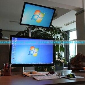 Image 5 - Süper yüksek masaüstü Sit Stand 17 27 inç monitör tutucu paslanmaz çelik TV askısı standı sütun yükseklik 90cm yükleme 10kgs