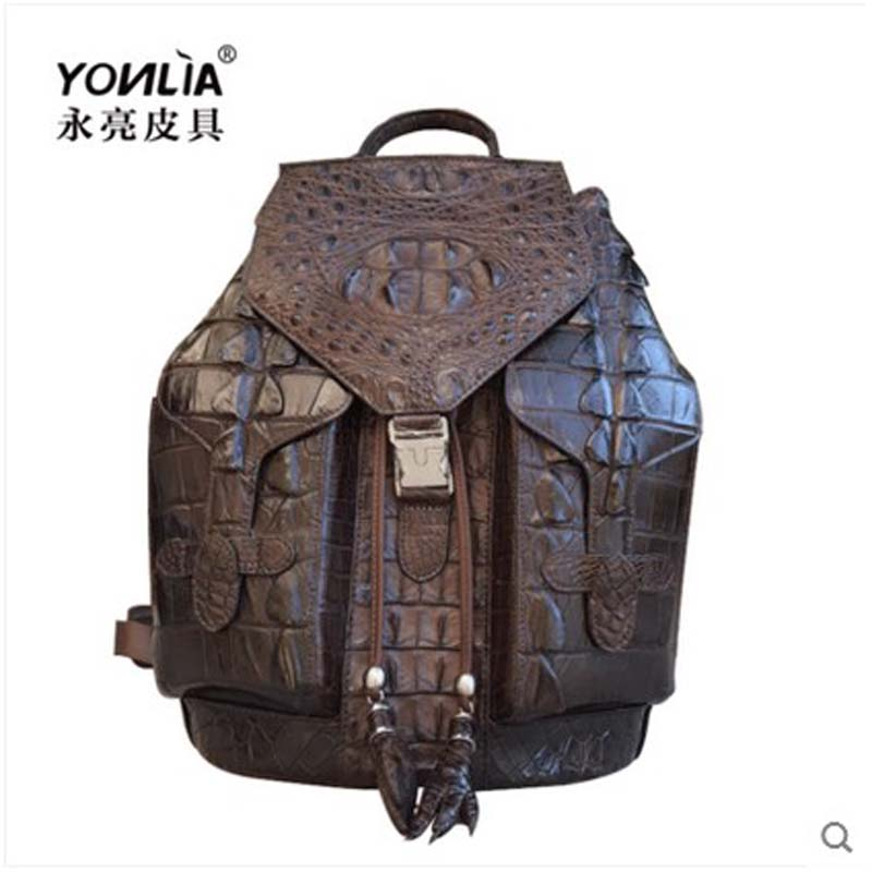 yongliang 2017 leather crocodile leather shoulder bag shoulder leisure trend large capacity package