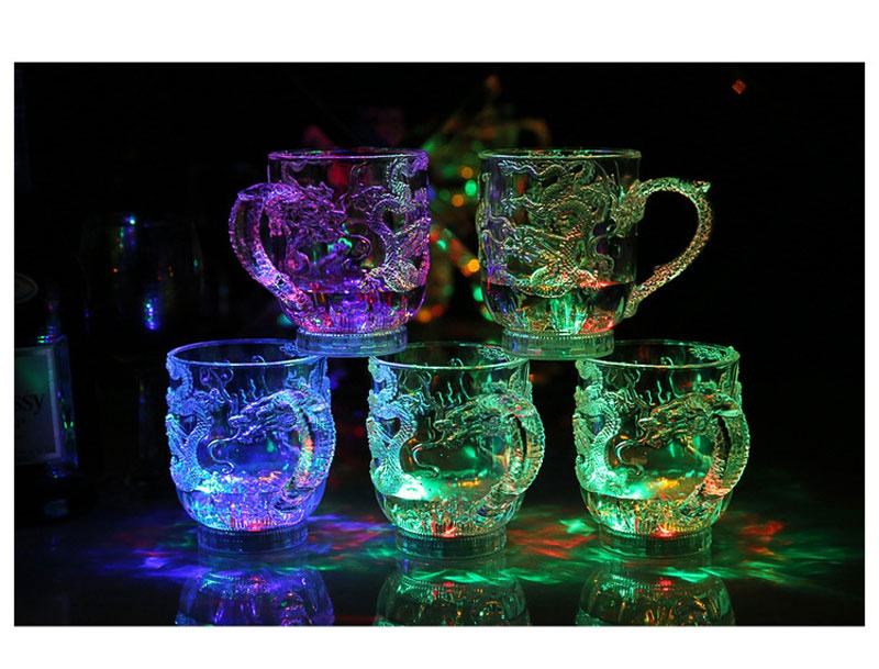 Unique Design LED Toy Light Color Change Pouring Water Activates Light up Dragon Luminous Cup for Holiday Party Decoration Lamp (7)