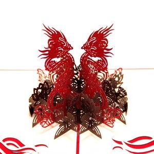 Тема животных дракон ручной работы 3D всплывающие поздравительные открытки на день рождения поздравительные открытки и подарок китайский д...