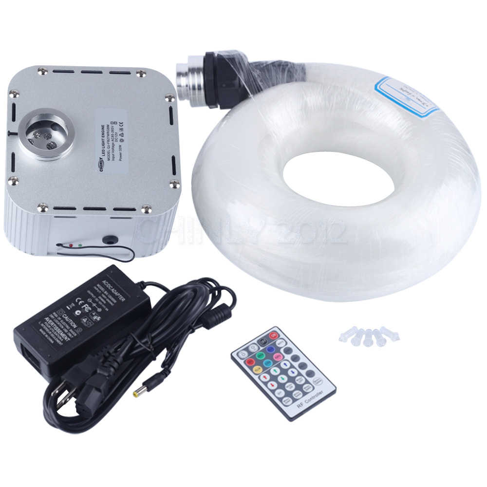 Мерцание 32 Вт RGB 4 скоростной светодиодный волоконно оптический Звездный потолочный светильник комплект 800 шт. 4 м 0,75 мм кабель 28key RF пульт дис