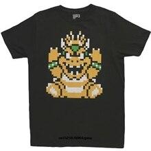 6d774603 Men T shirt Cute Super Mario Bros 3 Bowser Black funny t-shirt novelty  tshirt