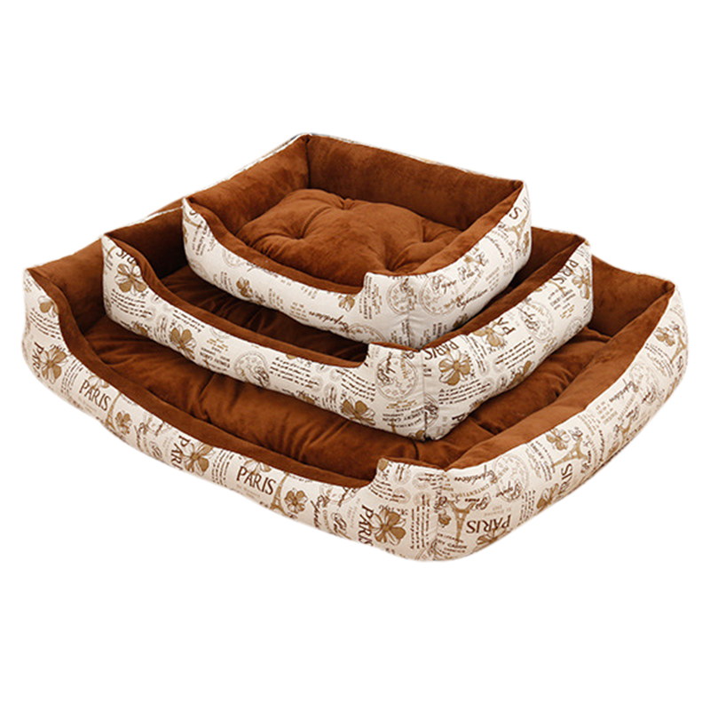 Soft Fleece Dog Bed Mats Leopard Pattern Soft Puppy Dog House Dog Mats Puppy Cat Warm Bed House