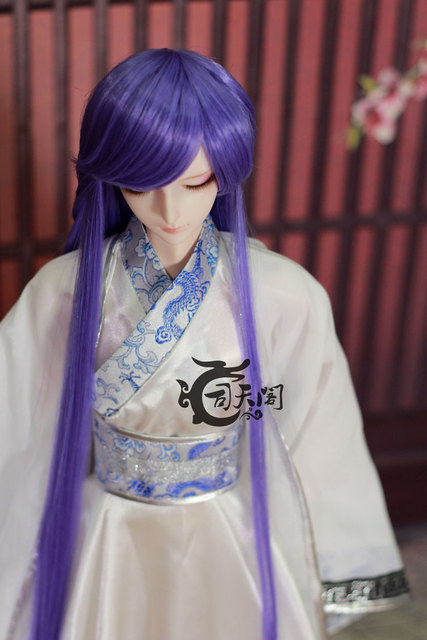 "8""-9"" Bjd doll wig purple fringe - - 3 costume high temperature wire hair maker"