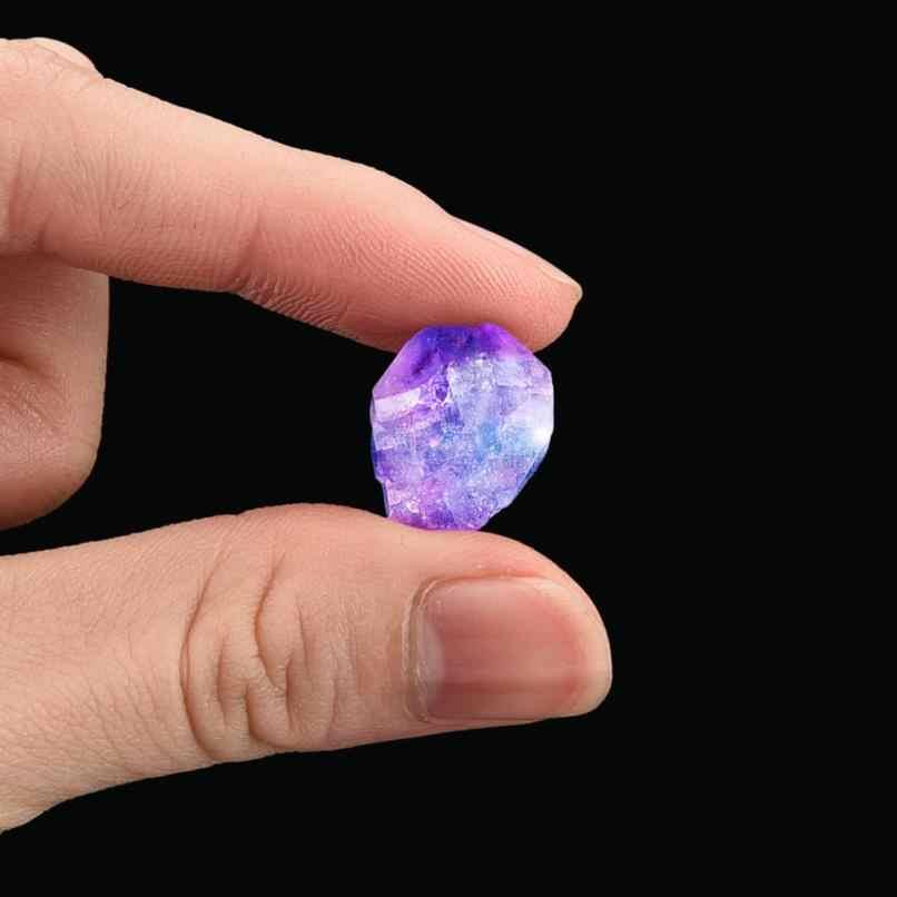 1-2.5 センチメートル天然六方晶列石英蛍石杖石紫色の緑の宝石カラフルな蛍石バードロップシップ