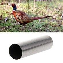ステンレス鋼鳥撮影笛キジ狩猟笛ためハンター鳥通話狩猟キジギア