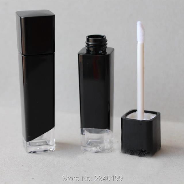 5ML 40pcs / lot Черно квадратна червило - Инструменти за грижа за кожата