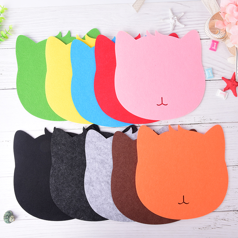 Cute Felt thicken Mouse Pad Office Desk Accessories Office Desk Organizer School Supplies Mouse Desk Tools Cat Shaped Mouse Pad