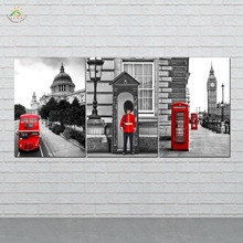 Wall Art Canvas Painting Posters and Prints Decorative Picture London Street View Decoration Home For Living Room 3 PIECES godox ad s13 ad s16 portable light boom stick floor stand flash tripod kit for godox ad200 ad180 ad360 ad360ii etc speedlite