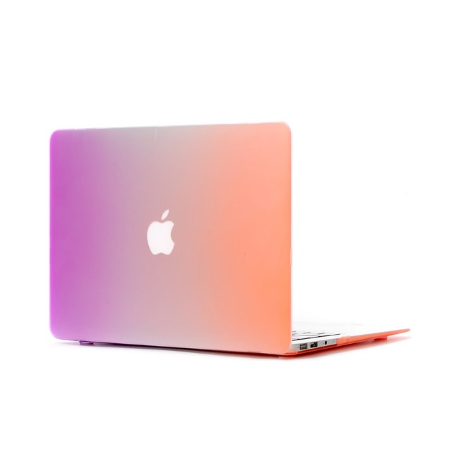 Macbook Air Old Book Cover ~ Rainbow color laptop case for apple mac book air pro