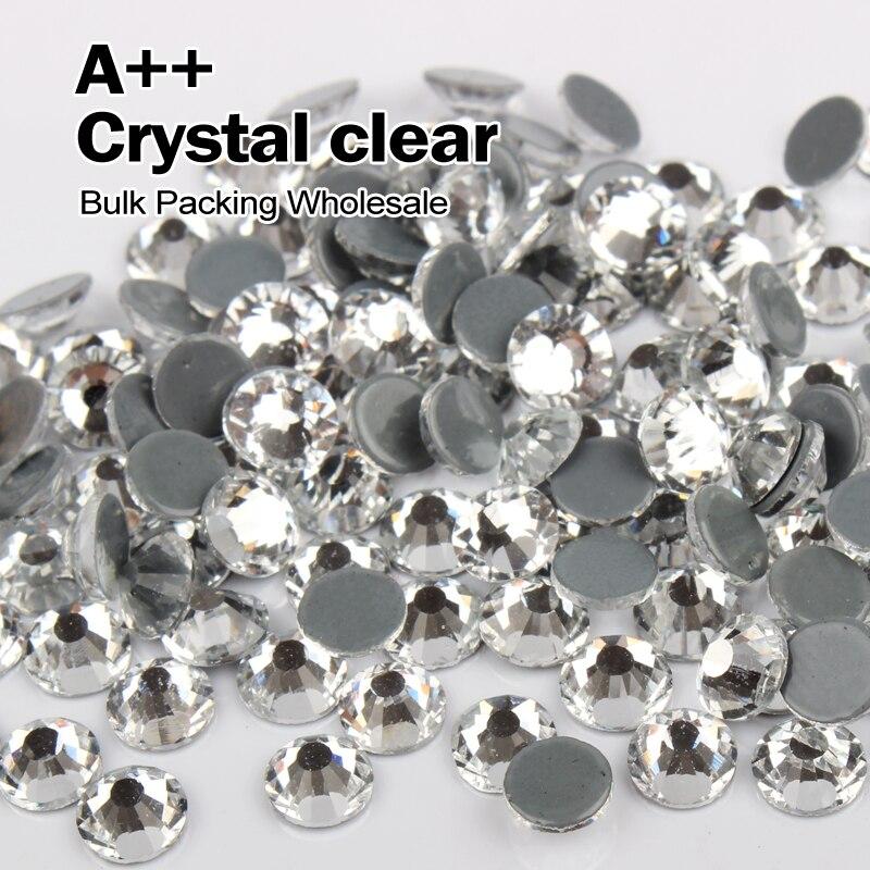 Высокое качество исправления Стразы подобные SWA Crystal Clear горный хрусталь Массовая упаковка оптом ss6 ss8 SS10 SS12 SS16 SS20 SS30