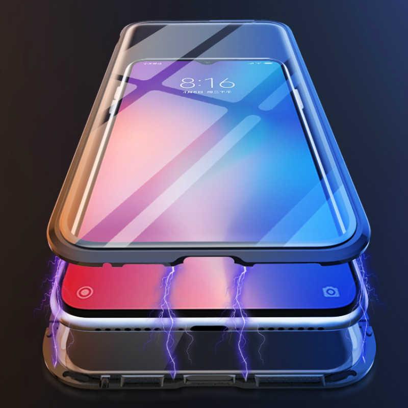 Mzxtby المعادن المغناطيسي الامتزاز حالة ل Xiaomi 9 9 T Mi9se Redmi Note7 K20 برو حالة جهين الزجاج المغناطيس حالة غطاء فوندا