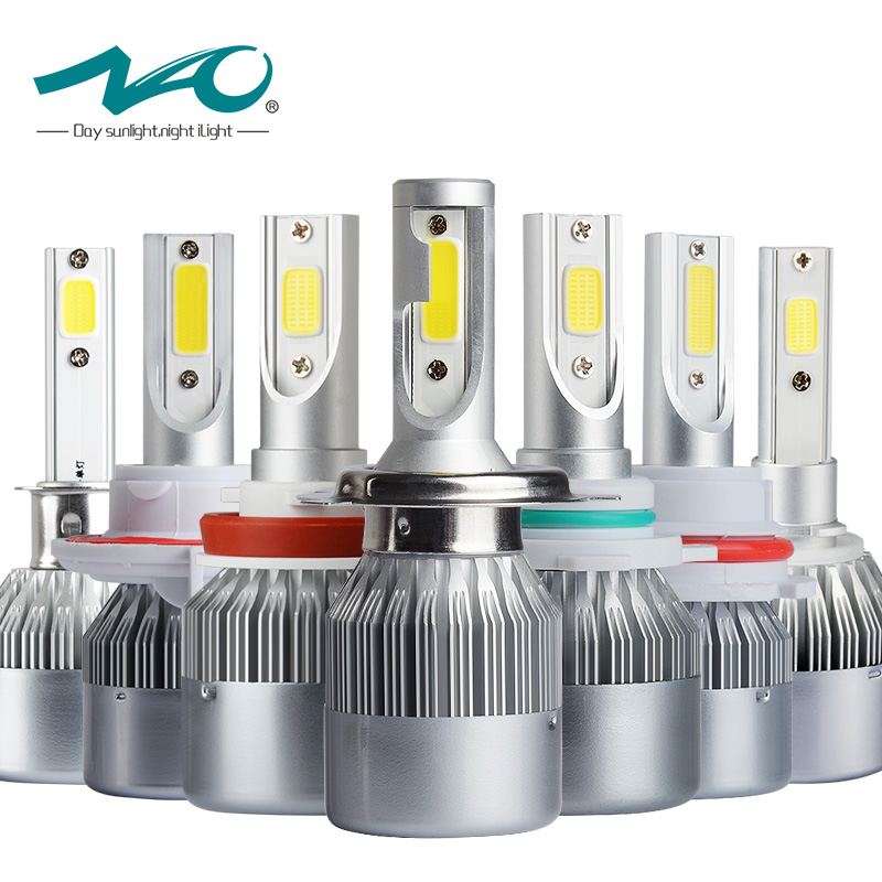 NAO auto h7 led voiture ampoule h4 led lumière 12 v h11 phare h1 lampe h3 hb4 9006 9005 hb3 h27 880 881 h8 h9 hb2 9004 9007 9008 36 w T7
