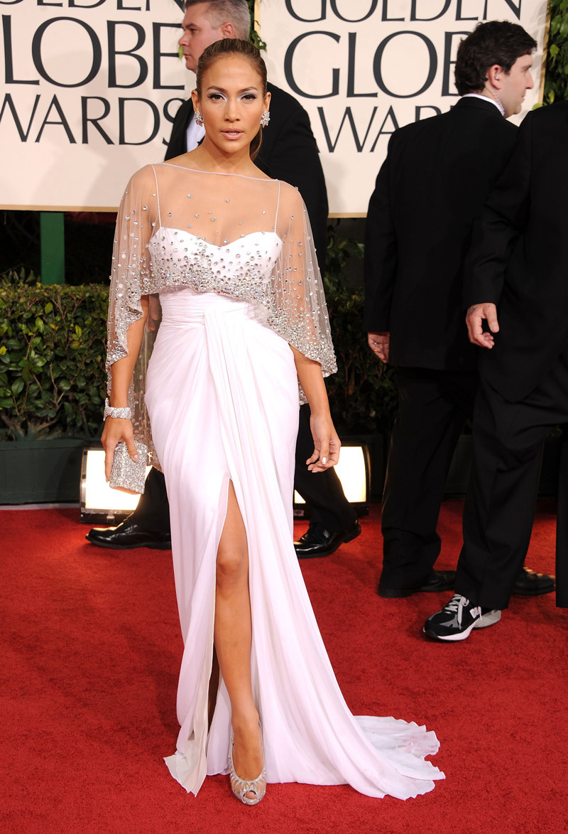 Aliexpress.com : Buy Jennifer Lopez White Dress 2016 Golden Globe ...